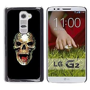Ihec Tech Rogue Heavy Metal Skull Rock Negro / Funda Case back Cover guard / for LG G2
