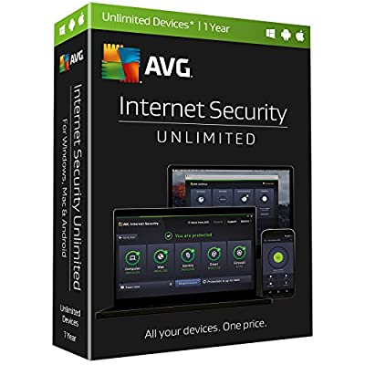 AVG Internet Security, Unlimited Devices, 1 Year