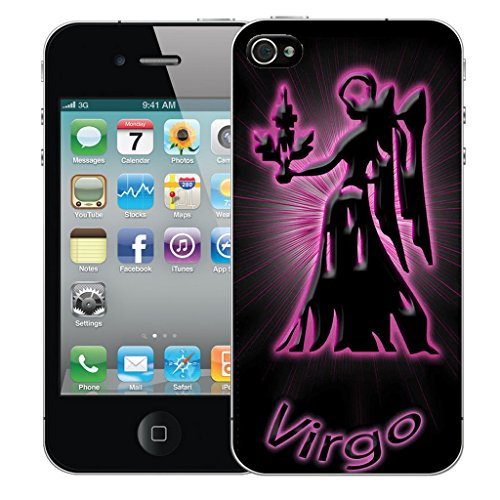 Mobile Case Mate iPhone 4s Silicone Coque couverture case cover Pare-chocs + STYLET - Pink Virgo pattern (SILICON)
