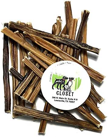 Sancho & Lola's 6-inch Extra Thin Bully Sticks for Dogs, Grain-Free High-Protein Mini Beef Pizzle Dog Chews 4.5oz (12-16 Count), Made in USA