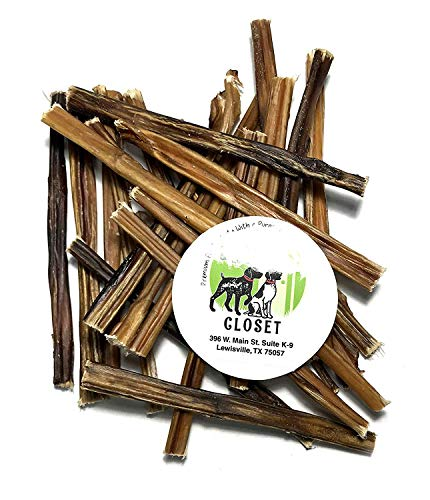 Sancho & Lolas 6-inch Extra Thin Bully Sticks for Dogs, Grain-Free High-Protein Mini Beef Pizzle Dog Chews 4.5oz (12-16 Count), Made in USA