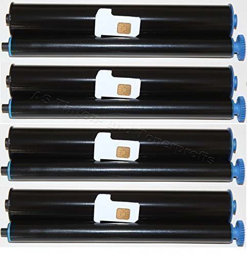 4x Compatibles rollo para fax Philips Magic 3Voice DECT SMS/Philips Magic 3Voice SMS/Philips Magic 3Voice SMS Plus/Philips Magic 3-2Basic/Philips Magic 3-2Colour DECT SMS/Philips Magic 3-2Double DECT No Name