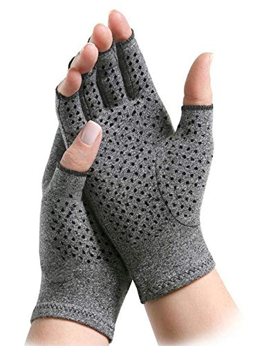 - ArthritisHope Therapeutic Compression Gloves (M) with Grips - Hand and Finger Support, Comfort and Relief from Pain Caused by Osteoarthritis & Rheumatoid Arthritis