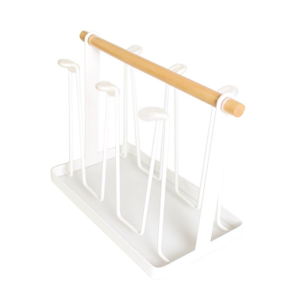 Mug Rack Storage Holder Bottle Organizer For Coffee Mugs Tea Cups (white)