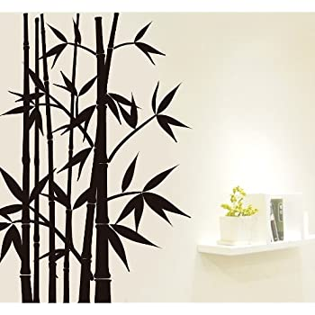 Superieur Createforlife Home Decorative Vinyl Wall Sticker And Wall Decals Bamboo  Tree Black Wallpaper
