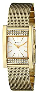GUESS Women's U0127L2 Crystal-Accented Gold-Tone Watch