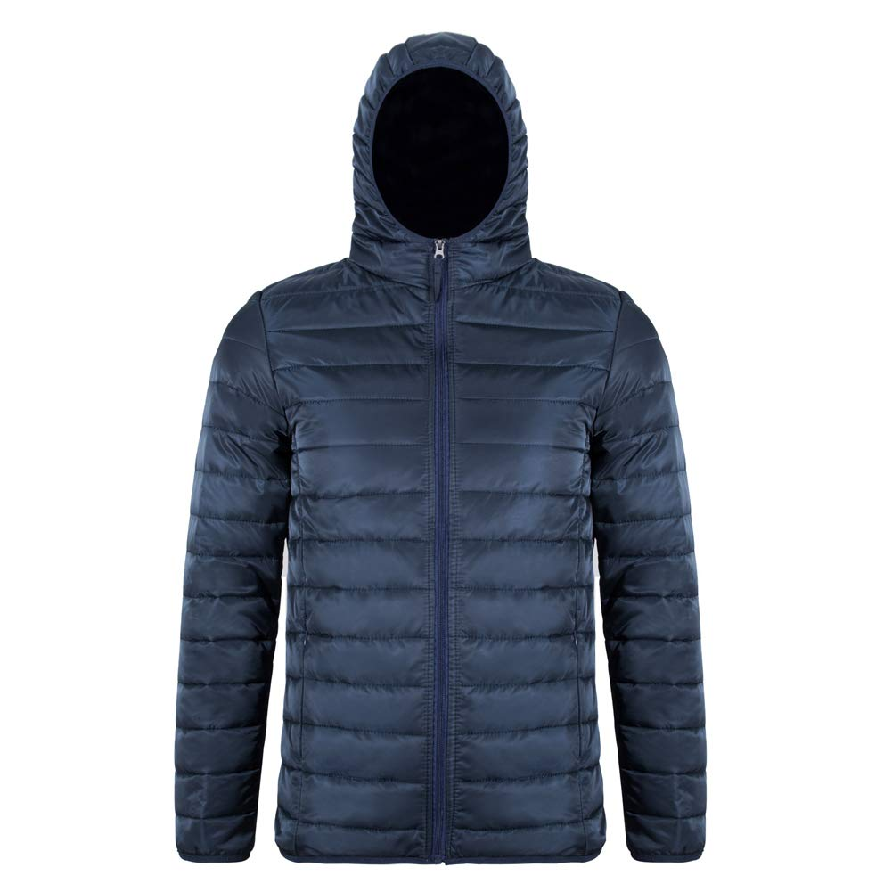 MADHERO Men's Packable Puffer Jacket Lightweight Quilted Jacket with Hood