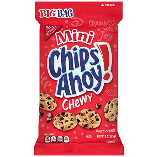 Chips Ahoy! Mini Chewy Chocolate Chip Cookies, Big Bag, 3 Ounce (Pack Of 12)