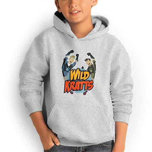 (Don Washington Wild Kratts Logo Teen Hoodies Fashion Sweatshirts Pullover Gray)