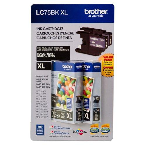 brother toner lc75bk - 8