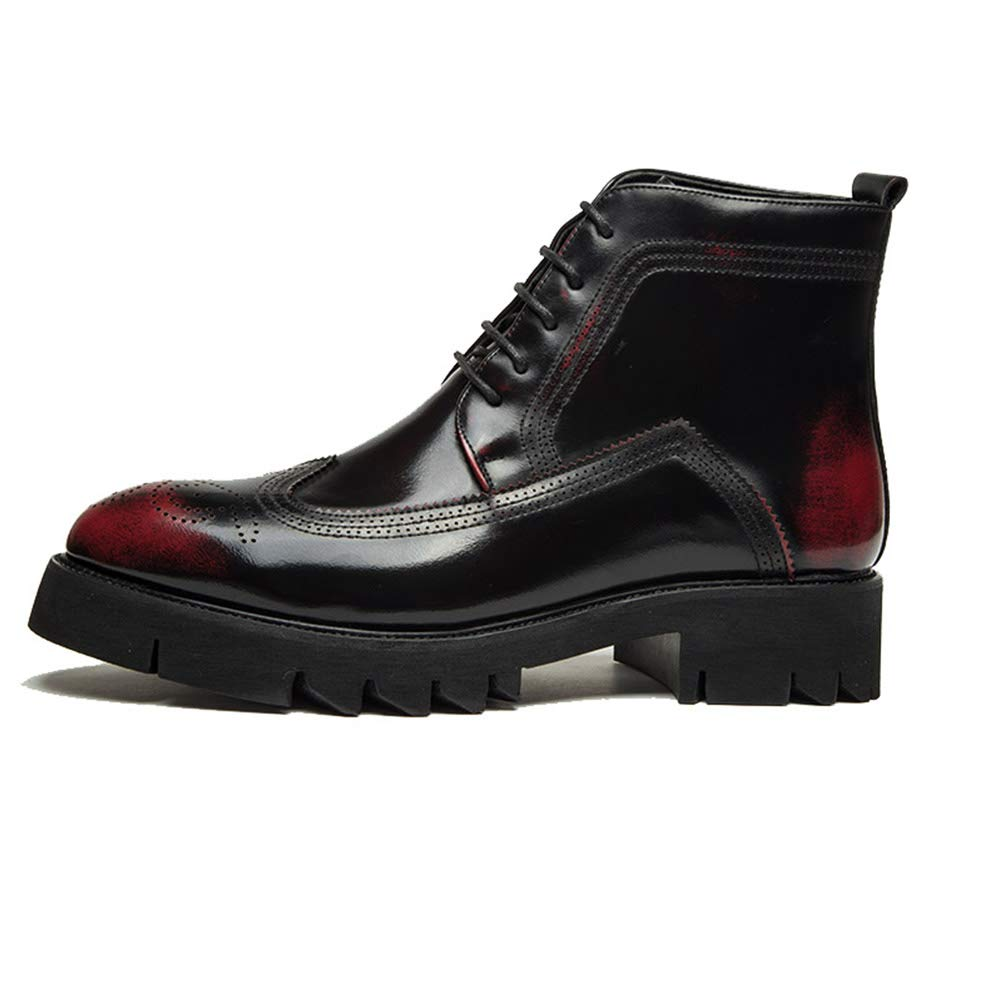 Victorics Mens Lace up Cap Toe Formal Dress Ankle Boots Casual Fashion Chukka Boots