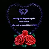 BESTONZON LED Gift Rose Ornament with Heart-Shaped, Illuminated Tribute to Love