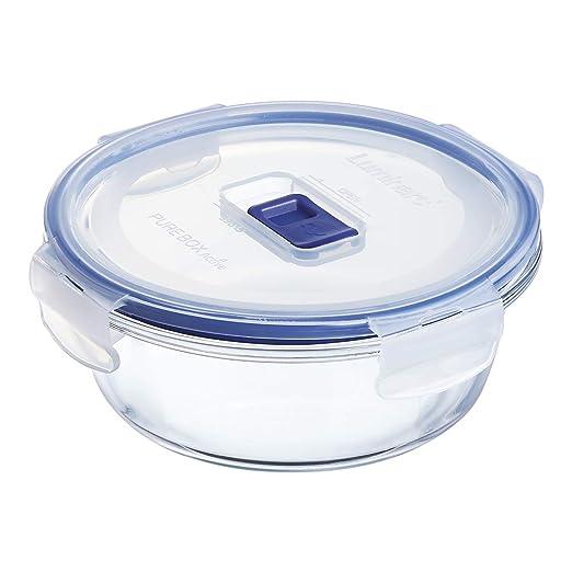 Luminarc Pure Box Active - Recipiente hermético de vidrio, redondo, tamaño 0,67 litros