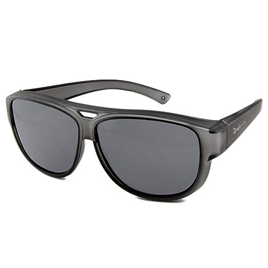 Sonnenbrille über Brille