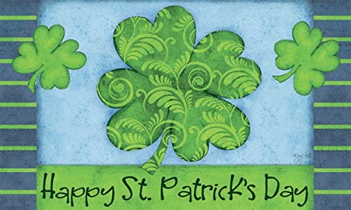 Lang 3210032 St. Patricks Day Door Mat by Joy Hall, 30 x 18