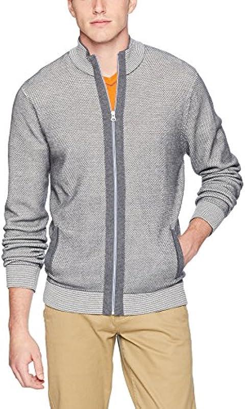 Robert Graham Męskie Conboy Full Zip Sweater Pullover, grau, X-Groß: Odzież
