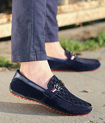 Size piselli scarpa Bebete5858 on Casual mocassino traspirante moda Large molto Extra specialmente casual uomo scarpa nero mocassino grande scarpe uomo slip ragazzo Blu scarpe qtwaft