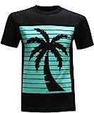 California Republic Palm Men's T-Shirt - Turquoise