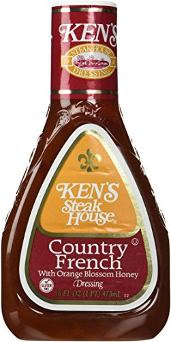 Ken's Steak House Country French Salad Dressing 16 Ounce (Pkg of 3) (French American Dressing)
