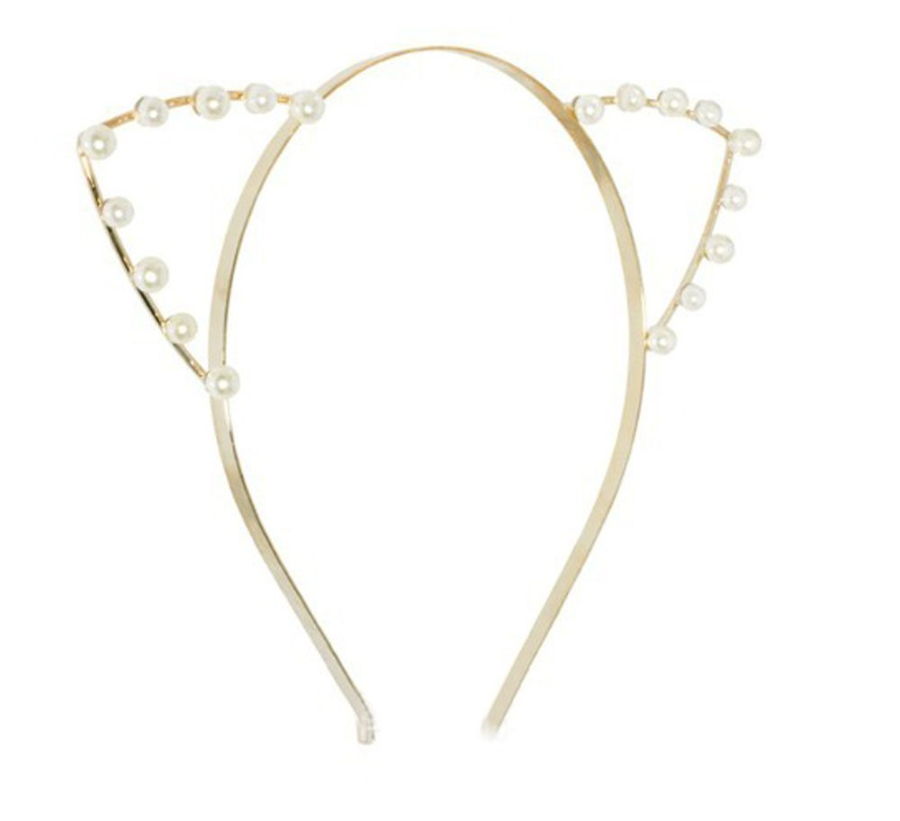 Amazon.com : Dani\'s Choice Cat Ear Headband - Black : Beauty