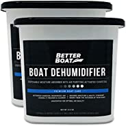 Boat Dehumidifier Moisture Absorber and Charcoal Smell Reducer Remove Damp Musty Smell | Basement Closet Home