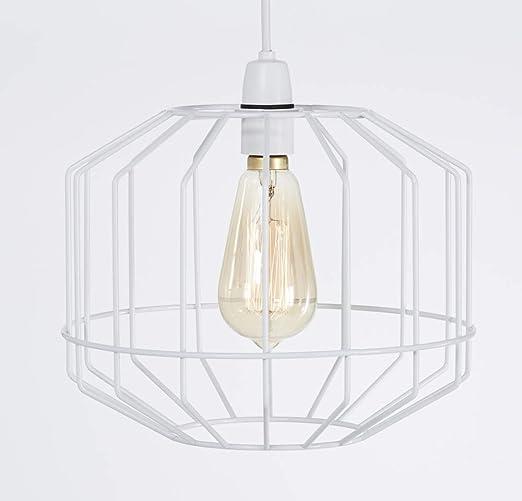 Gran lámpara de techo de estilo retro, en forma de jaula con ...