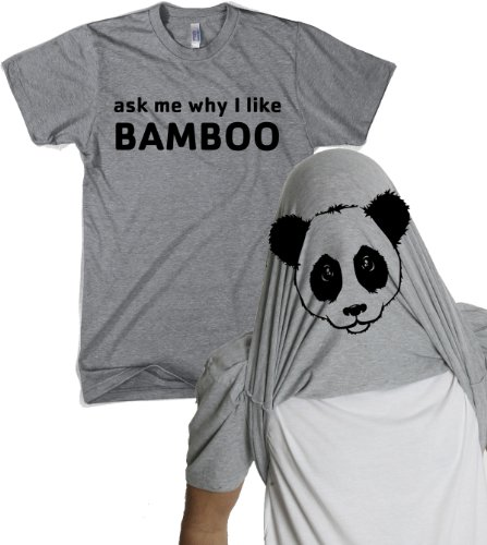 afb9a5a6 Ask Me Why I Like Bamboo Panda Flip Shirt Funny Pandas Shirt Flip Over Tee  XXL - Buy Online in UAE.   Apparel Products in the UAE - See Prices, ...