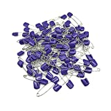 GTONEE Baby Safety Pins Secure Clips for Fastening Baby Clothes Diaper Napkins 100pcs Purple