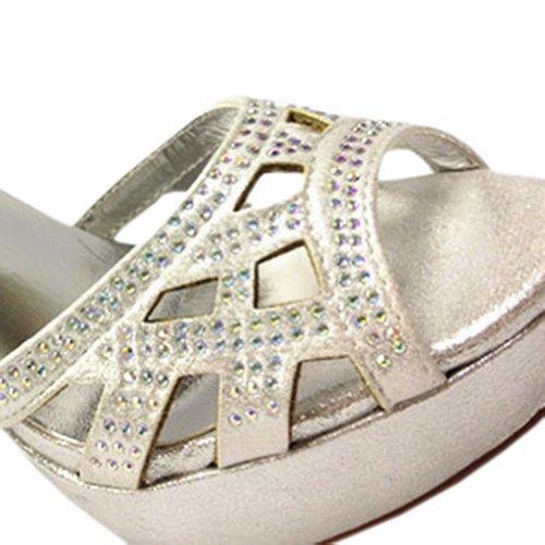 Sandalias Con Tacones De Mujer Blancho Ivetta Style