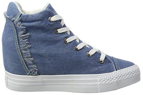 Azul Denim Mujer para Altas Zapatillas Fepe023 Fiorucci 6gqOCBx