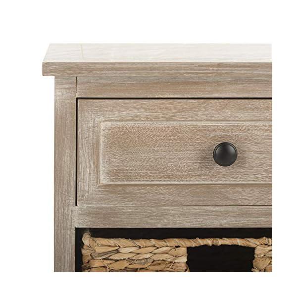 Safavieh American Homes Collection Herman Whitewash Wicker Basket Storage Unit