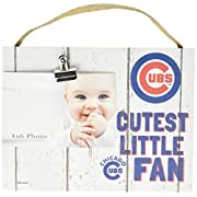 KH Sports Fan 10 x8  Chicago Cubs Clip It Weathered Baby Logo Photo Frame, 10  x 8