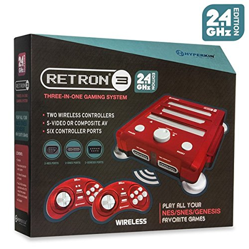 Hyperkin Retron 3 Video Game System for NES/SNES/GENESIS – Red