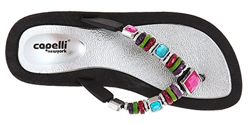 Beads Rainbow Flip Combo Trim Capelli Injected Silver Thong with New Ladies York Molded Flops xqUC0Bpw