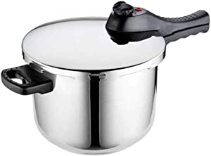 WODEDIAN Stainless Steel Pressure Cooker Cookware, Compatible for Induction, Gas, Electric Stovetops, Induction Compatible Pressure Cooker, 6-Liter