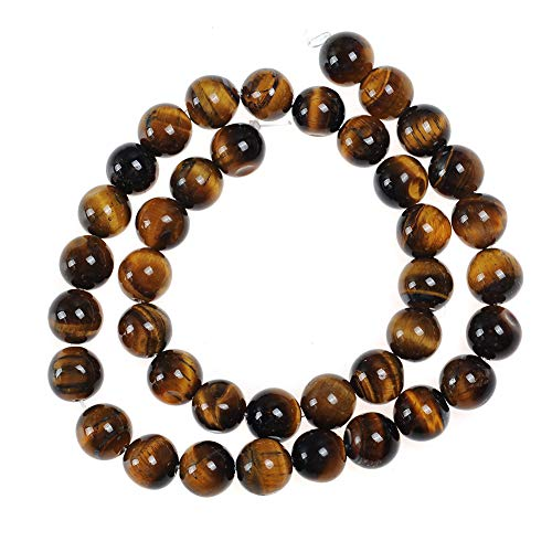 60pcs 6mm Yellow Tiger Eye Beads for Jewelry Making Adult Bracelets Necklace Natural Stone Round Beads for Handmade Jewellry
