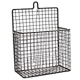 AIYoo File Holder Metal Organizer,Large Wire Wall Bin Magazine Rack Holder,Storage Basket for Magazine,Books, Newspapers - Modern Office Home Supplies and Decorations.
