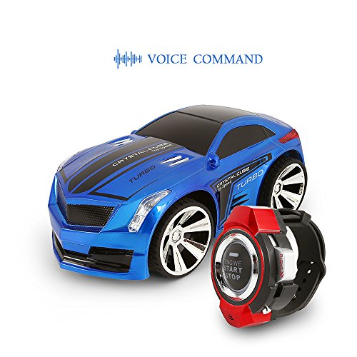 Price comparison product image SainSmart Jr. Genuine VC-03 Voice Command Car,  Voice-Activated Racing Car with Smart Watch Radio Control,  Blue