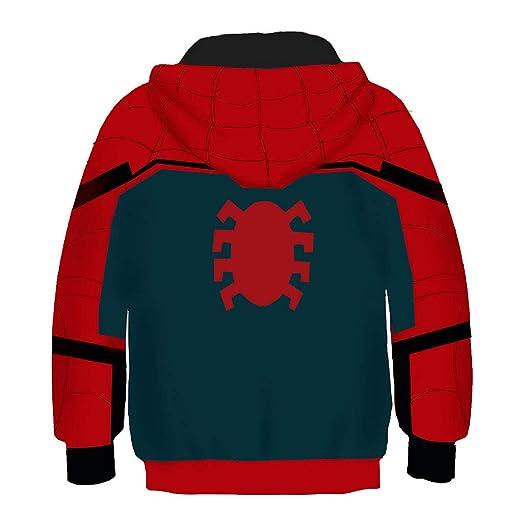 AEMUT Spiderman con Capucha para Kid Marvel Superhero 3D Impreso ...