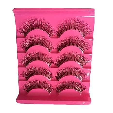 oce180anylv profesional pestañas postizas Shop 5 pares 3d naturales larga wimpern Makeup grosor, hecho a mano falso pestañas postizas: Amazon.es: Belleza