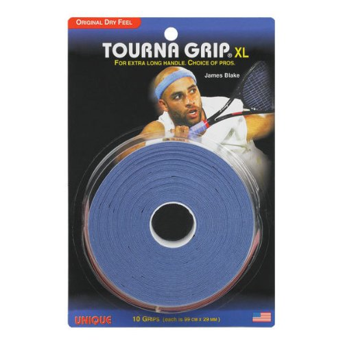 Overwrap Grip (TOURNA | Tourna Grip 10 Grip Pack - XL Blue | TG-10-XL)