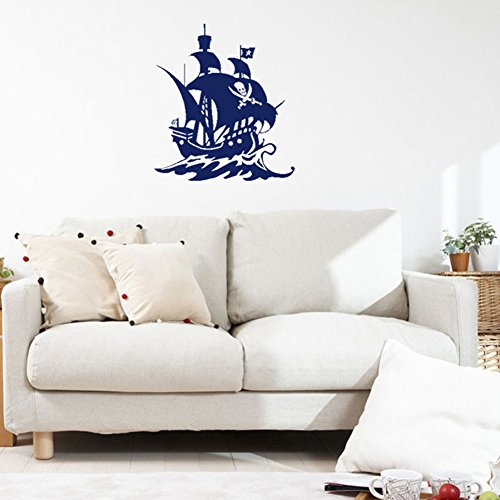 Fangeplus(TM) DIY Removable Pirates of the Caribbean Ship Art Mural Vinyl Waterproof Wall Stickers Kids Room Decor Nursery Decal Sticker Wallpaper12.5''x11.4'' (Pirates) ()