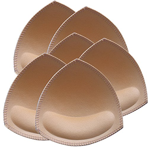 Bra Inserts Pads Comfy Sport Bra Insert Cups 3 Pairs Beige by Nimiah (Sew In Bra Cups For Wedding Dress)