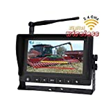 T Tocas 7 inches Digital Wireless HD Monitor IR Camera 2.4G Rear View Back up Backup System for RV Truck Trailer Bus Fifth-wheel Postal Fire Truck