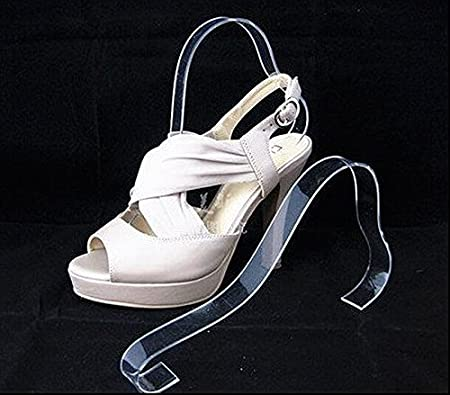 Pack Of 40 Acrylic Sandal Shoe Store Display Stand Forms Inserts Cool Retail Shoe Display Stands Uk