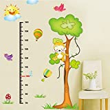EMIRACLEZE Christmas Gift Cartoon Monkey Tree Height Tall Sticker Waterproof Removable Mural Wall