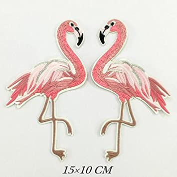 Bird patch Flamingo Embroidered Iron On Patch