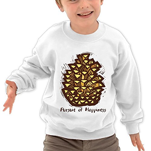 Price comparison product image Ocfing Pursuit Of Hoppiness Child Toddler Cute Hooded Sweatshirt