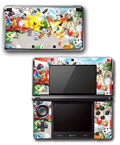 Pokemon Rumble U Blast Pikachu Victini Video Game Vinyl Decal Skin Sticker Cover for Original Nintendo 3DS System