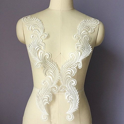 ral Lace Collar Fabric Trim DIY Embroidery Lace Fabric Neckline Applique Sewing Craft ()